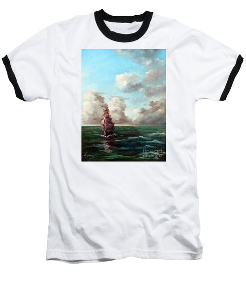 Outrunning The Storm Baseball T-Shirt by Lee Piper