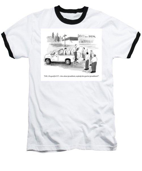 Outside An Office Depot Baseball T-Shirt