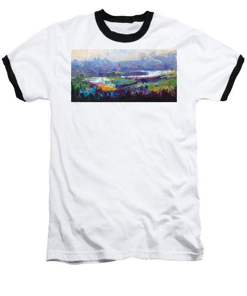 Overlook Abstract Landscape Baseball T-Shirt