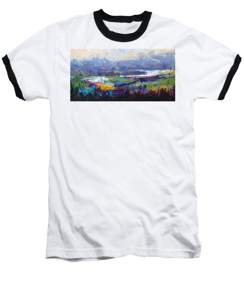 Overlook Abstract Landscape Baseball T-Shirt