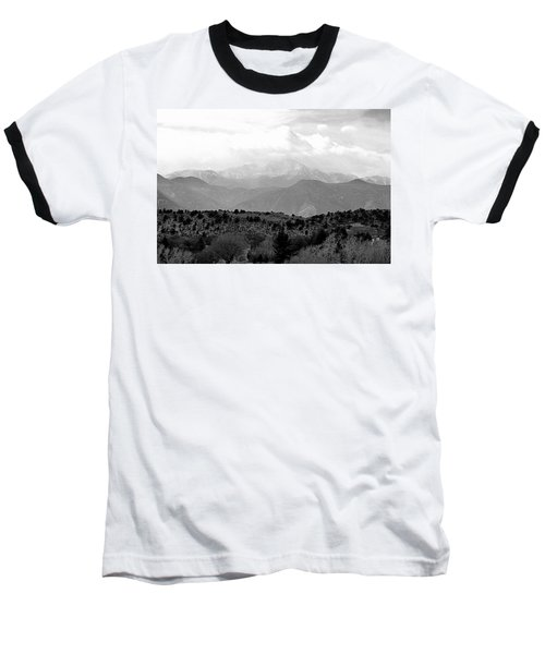 Over The Hills To Pikes Peak Baseball T-Shirt by Clarice  Lakota