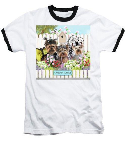 Owned By Yorkies II Baseball T-Shirt