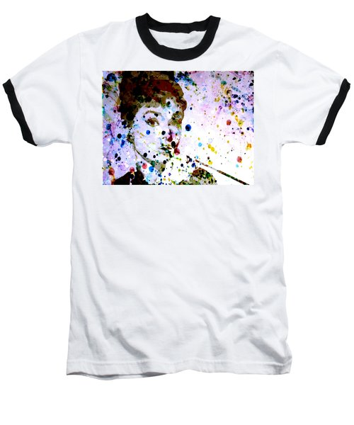 Baseball T-Shirt featuring the digital art Paint Drops by Brian Reaves