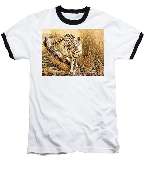 Baseball T-Shirt featuring the photograph Painted Cheetah by Kristin Elmquist