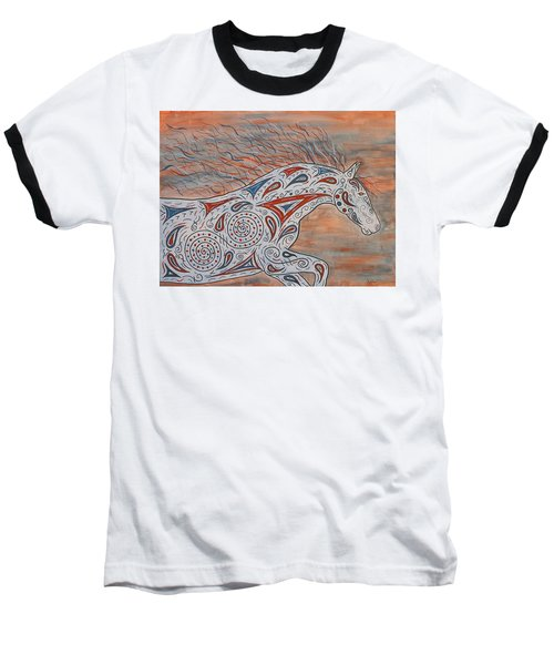 Baseball T-Shirt featuring the painting Paisley Spirit by Susie WEBER