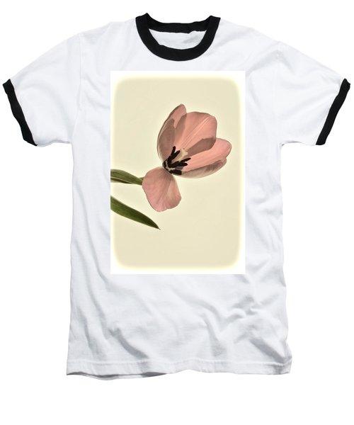Pale Pink Tulip Baseball T-Shirt