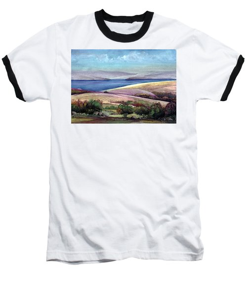 Baseball T-Shirt featuring the painting Palestine View by Mikhail Savchenko