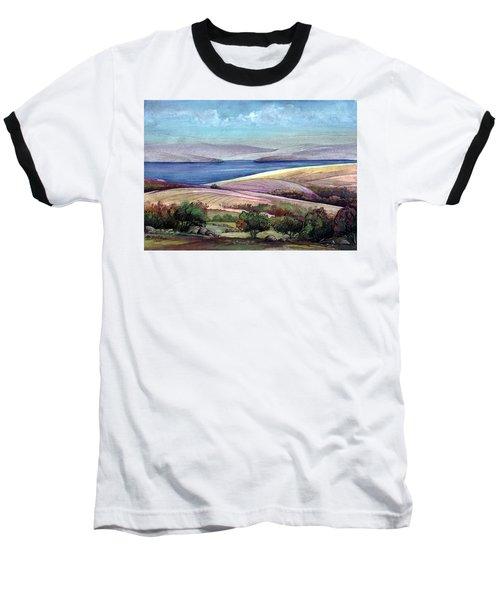 Palestine View Baseball T-Shirt by Mikhail Savchenko