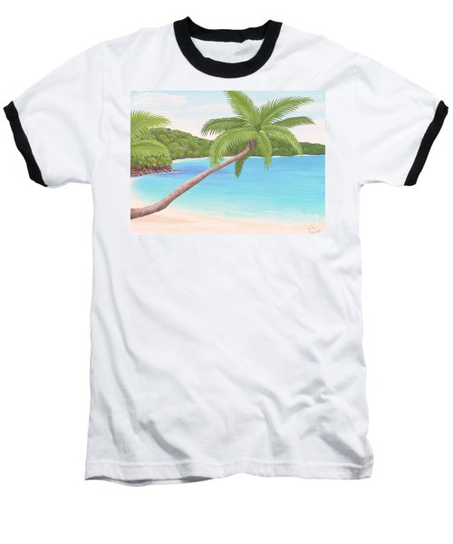 Palm In Paradise Baseball T-Shirt