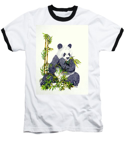 Panda  Baseball T-Shirt by Terri Mills