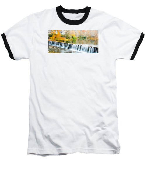 Panorama Of Buck Creek In Autumn Baseball T-Shirt