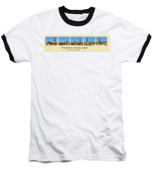Panorama Of Ecija Spain Baseball T-Shirt