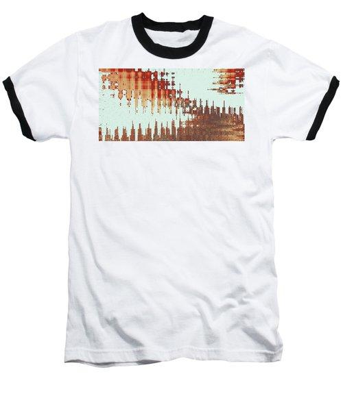 Panoramic City Reflection Baseball T-Shirt