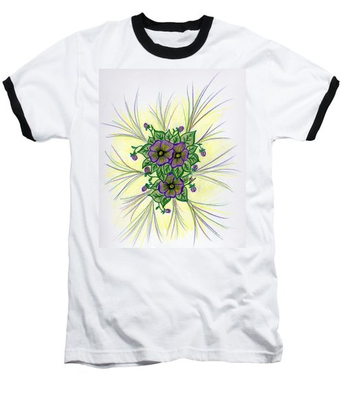 Pansies Baseball T-Shirt