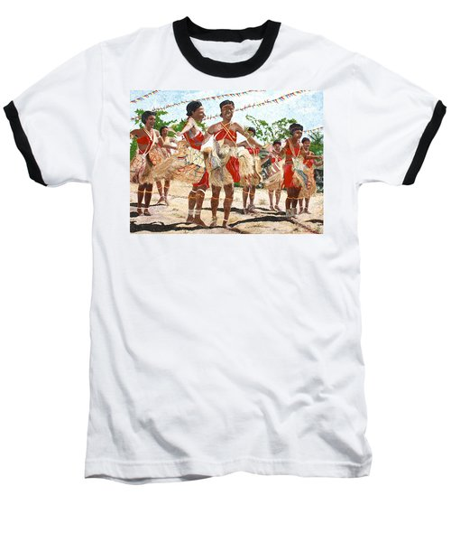 Papua New Guinea Cultural Show Baseball T-Shirt