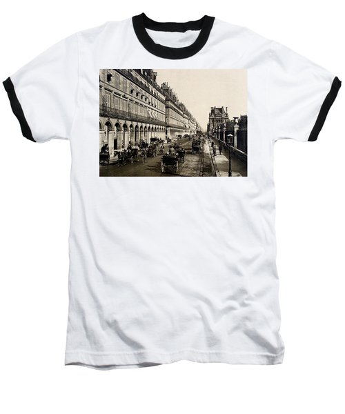 Paris 1900 Rue De Rivoli Baseball T-Shirt