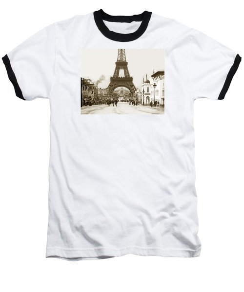 Paris Exposition Eiffel Tower Paris France 1900  Historical Photos Baseball T-Shirt