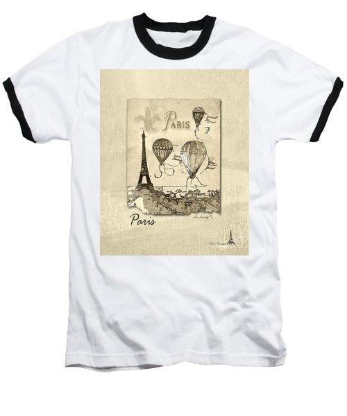 Paris In Sepia Baseball T-Shirt