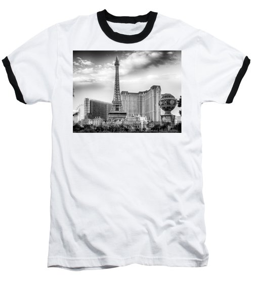 Baseball T-Shirt featuring the photograph Paris Las Vegas by Howard Salmon