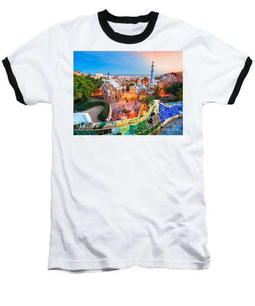 Park Guell In Barcelona - Spain Baseball T-Shirt