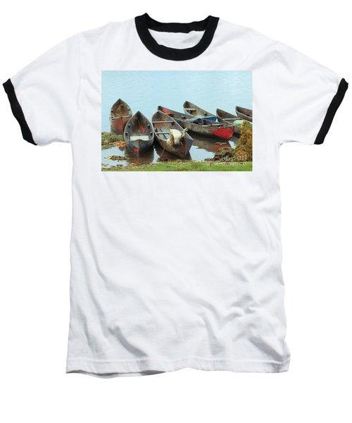 Parking Boats Baseball T-Shirt by Jola Martysz