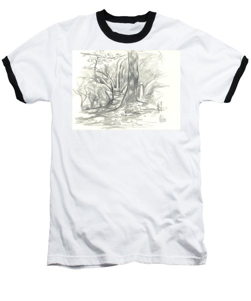 Passageway At Elephant Rocks Baseball T-Shirt