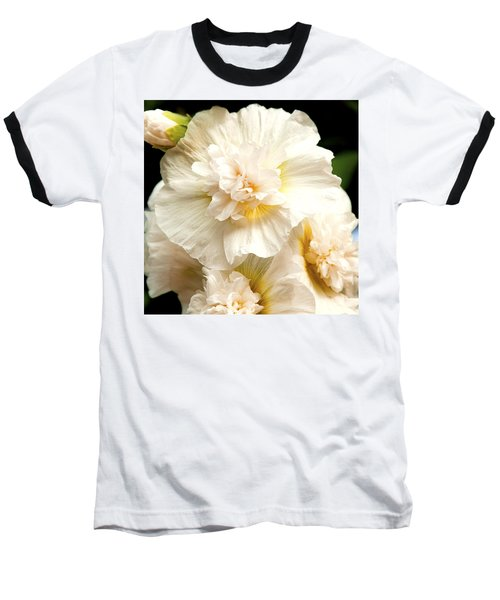 Baseball T-Shirt featuring the photograph Pastel Delphinium by Jerry Cowart