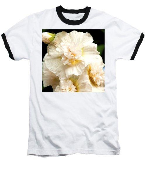 Pastel Delphinium Baseball T-Shirt by Jerry Cowart