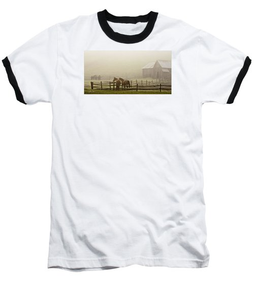 Baseball T-Shirt featuring the photograph Patiently Waiting by Joan Davis