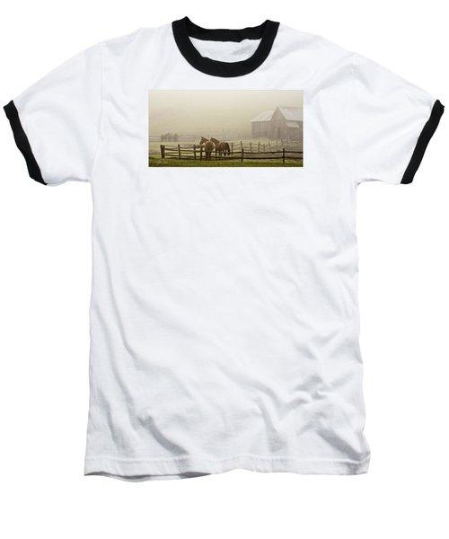 Patiently Waiting Baseball T-Shirt by Joan Davis