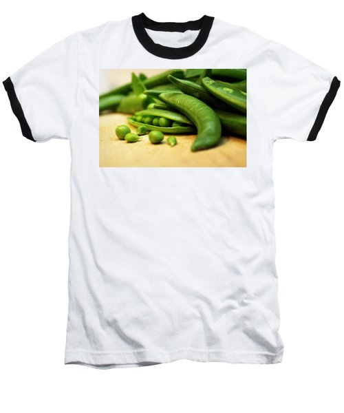 Pea Pods Baseball T-Shirt by Joseph Skompski