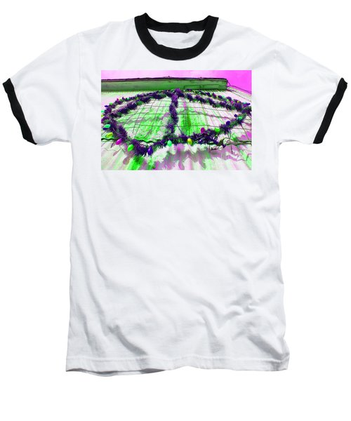 Peace Lights 1 Baseball T-Shirt by Minnie Lippiatt