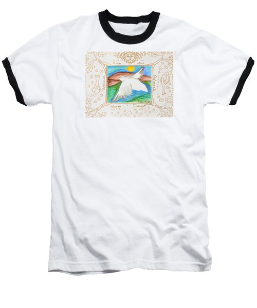 Peace Of Heaven Baseball T-Shirt by Cassie Sears