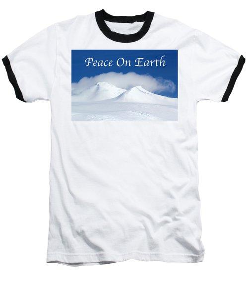 Peace On Earth Card Baseball T-Shirt