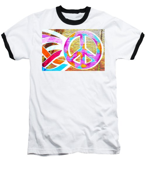 Peace Out Baseball T-Shirt