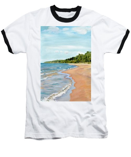 Peaceful Beach At Pier Cove Baseball T-Shirt