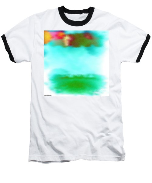 Baseball T-Shirt featuring the digital art Peaceful Noise by Anita Lewis