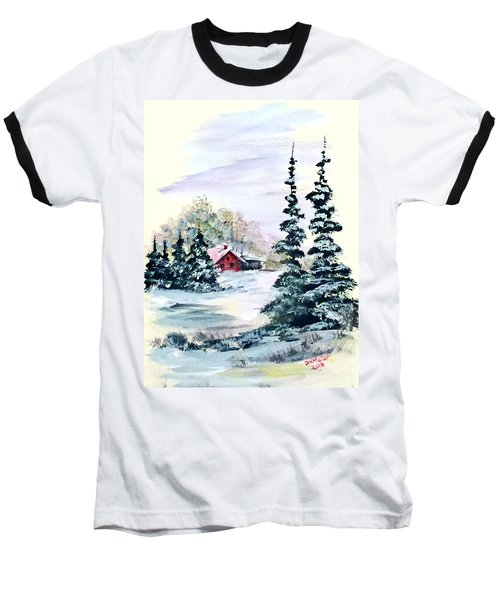 Peaceful Winter Baseball T-Shirt by Dorothy Maier