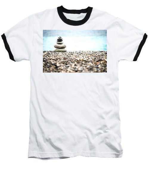 Pebble Stone On Beach Baseball T-Shirt by Yew Kwang