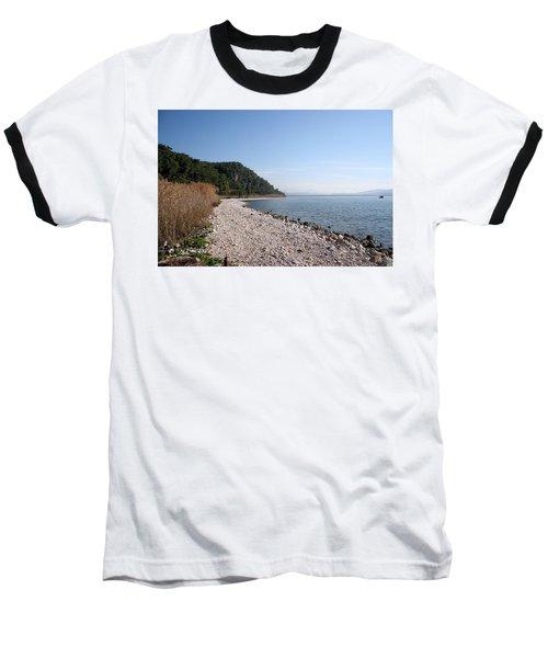 Baseball T-Shirt featuring the photograph Pebbled Beach by Tracey Harrington-Simpson