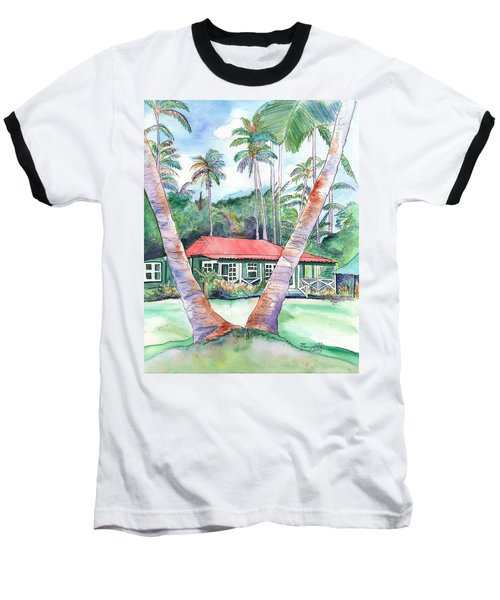 Peeking Between The Palm Trees 2 Baseball T-Shirt
