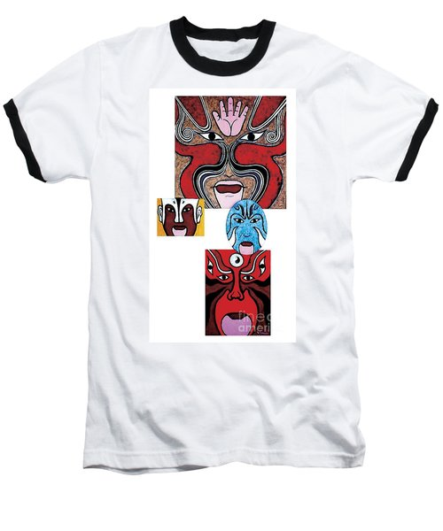 Baseball T-Shirt featuring the painting Peking Opera No.1 by Fei A