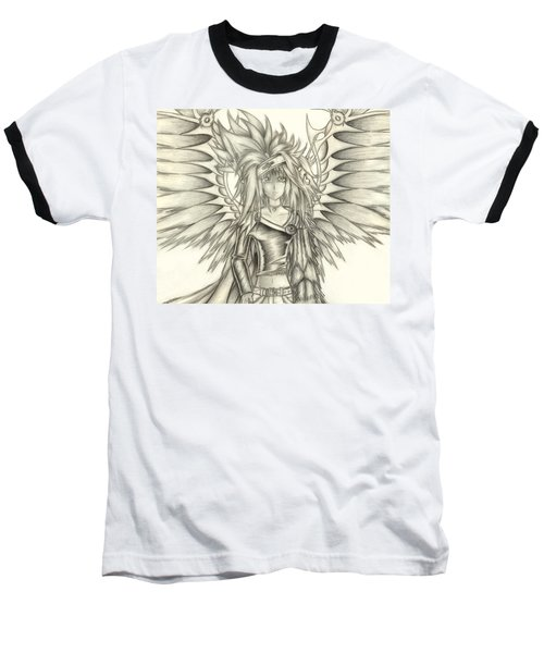Pelusis God Of Law And Order Baseball T-Shirt by Shawn Dall