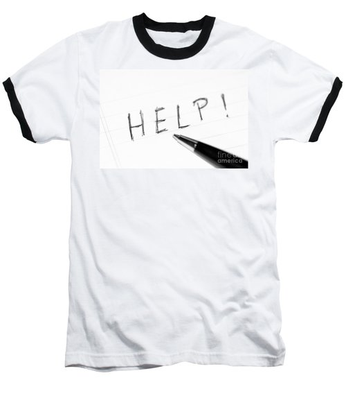 Baseball T-Shirt featuring the photograph Pen Help Black White by Henrik Lehnerer