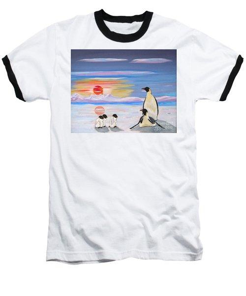 Penguin Family Baseball T-Shirt