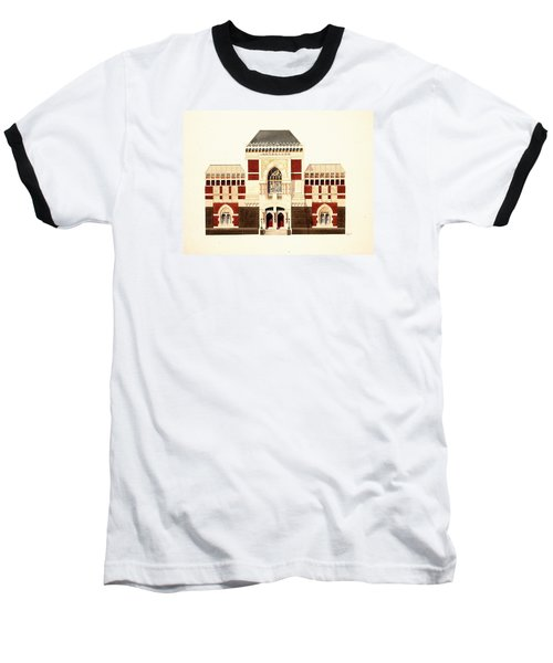 Baseball T-Shirt featuring the painting Pennsylvania Academy Of Fine Art by William Renzulli
