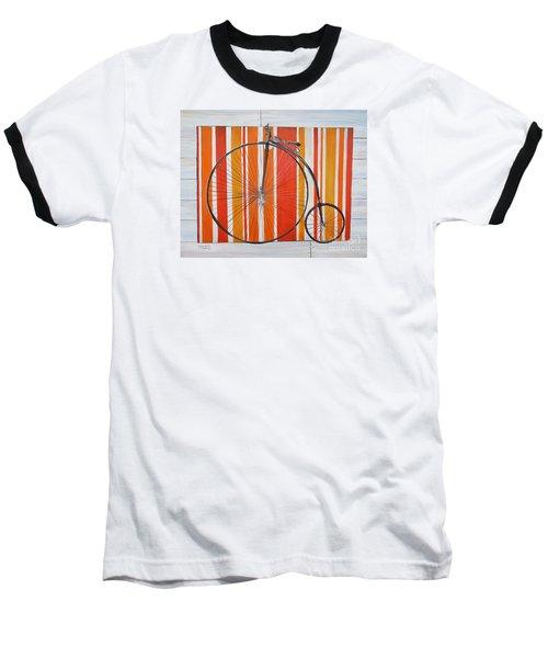 Penny-farthing Baseball T-Shirt by Marilyn  McNish