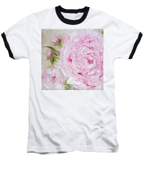 Baseball T-Shirt featuring the painting Peony by Judith Rhue