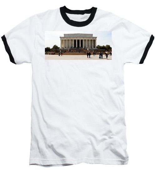 People At Lincoln Memorial, The Mall Baseball T-Shirt by Panoramic Images