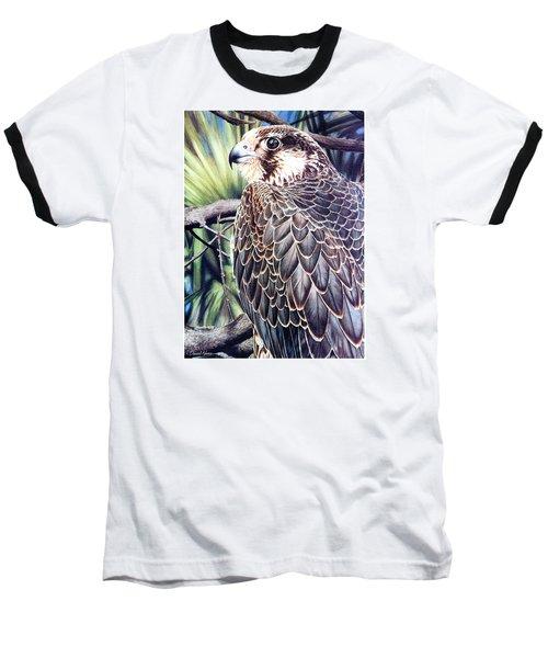 Da138 Peregrine Falcon By Daniel Adams Baseball T-Shirt